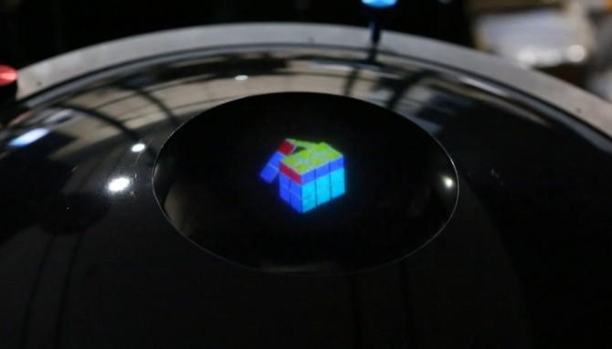 지난해 ETRI는 360도 어디서도 볼 수 있는 3D 입체 컬러 홀로그램을 세계 최초로 개발했다. - ETRI 제공 제공